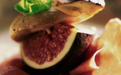 Brochette de figues fraiches et Parme