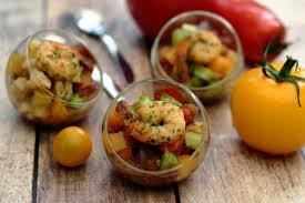 Méli Mélo de tomate au Basilic et Gambas